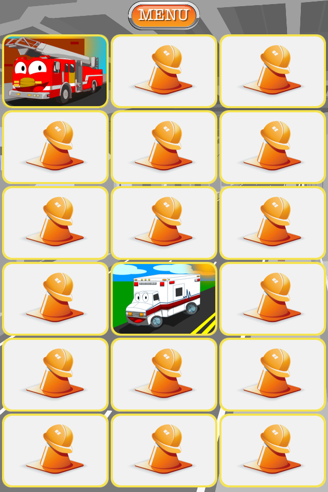 Screenshot Trucks Matching – Memory Match Game For Kids
